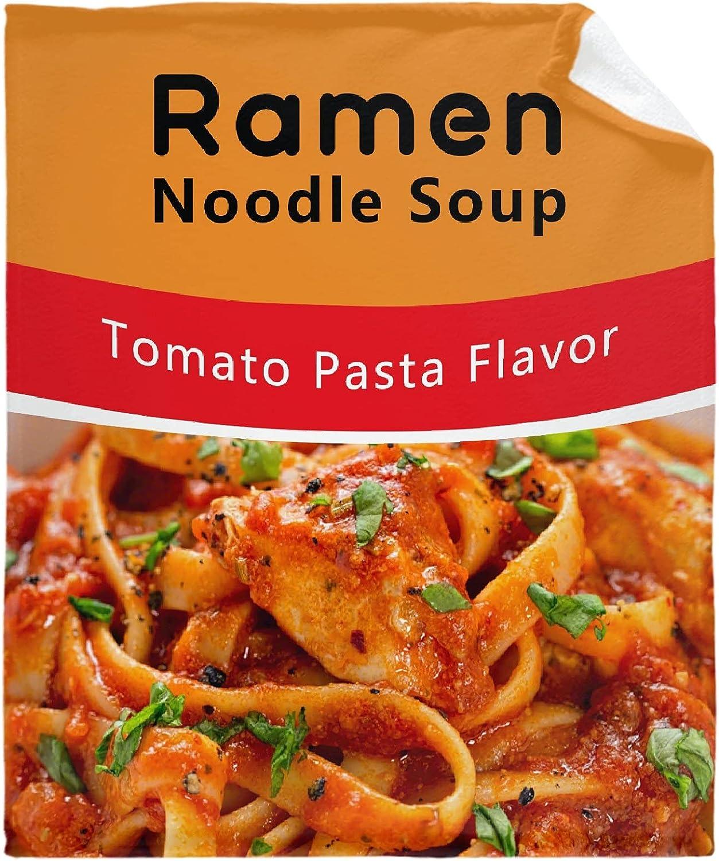 Food Ramen Noodle Soup Tomato Blanket Throw wholesale Ultra Soft Flannel L Popular