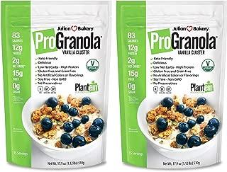 Julian Bakery ProGranola VeganⓋ (Vanilla Cluster) (12g Protein) (Gluten-Free & Grain-Free) (2 Net Carbs) (2 Pack 30 Servings Total)