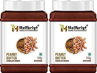 Heilbrigt Chocolate Crunchy Peanut Butter Combo 1kg+1kg=2kg
