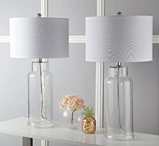 Safavieh Lighting Collection Bottle Glass Clear 29-inch Table Lamp (Set of 2)