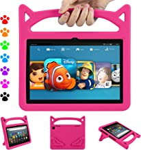 Fire HD 8 Tablet Case 2020, All-New Fire HD 8 Plus Case for Kids 10th Generation(2020 Release), Ubearkk Light Weight Shock Proof Handle Friendly Stand Kids Proof Protective Cover (Pink)