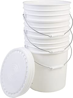 6.5 gallon bucket with lid