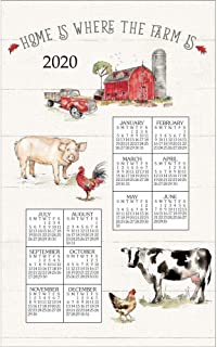 2020 Country Life 2020 Calendar Towel, by Kay Dee Designs