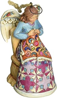 Jim Shore Heartwood Creek Sewing Angel Ornament, 3.5-inch
