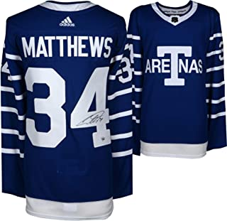Auston Matthews Toronto Maple Leafs Autographed Toronto Arenas Adidas Authentic Jersey - Fanatics Authentic Certified