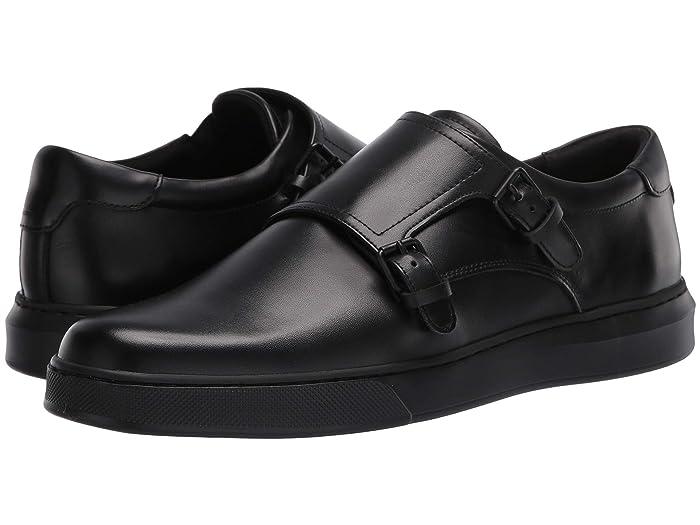 Mens Retro Shoes | Vintage Shoes & Boots Kenneth Cole New York Liam Monk Black Mens Shoes $135.00 AT vintagedancer.com
