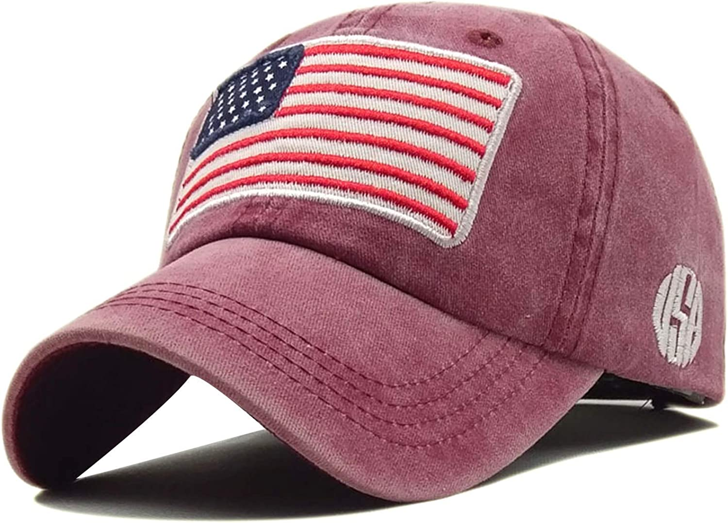 Max 51% OFF LOKIDVE Men's USA American Flag Large-scale sale Polo Embroidered Cap St Baseball