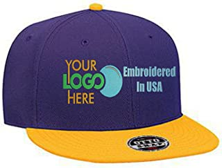 Custom Logo Snapback Hat. Otto. Embroidered. Your Own Logo. Flatbill Bill.