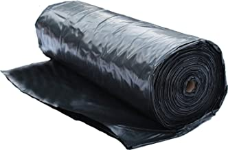 Plastic Sheeting Roll 6 MIL (10x100) Black for Painting, Plastic Tarp, Plastic Mulch, Weed Barrier, Concrete Moisture, Vap...