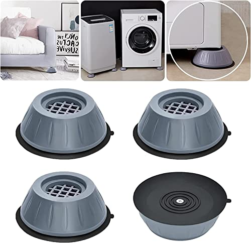 JAYVACHHRAJ 4Pc Anti Vibration Pads for Washing Machine and Dryer Shock Absorber Noise Cancelling Washer Support Anti Walk Heightening Pads with Suction Cup Feet Moving Shaking Universal Size 1