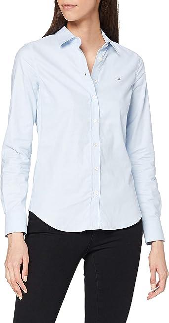 GANT Stretch Oxford Solid Shirt Camisa para Mujer