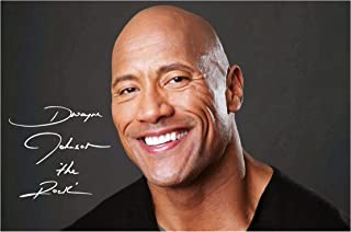 Engravia Digital Dwayne Johnson The Rock WWE Poster Signed Autograph Reproduction Photo A4 Print(Unframed)