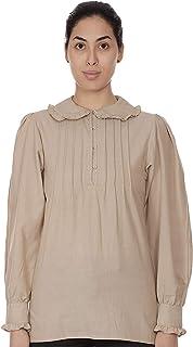 Plus Size Peter Pan Collar Classic Blouse   Cotton Lane