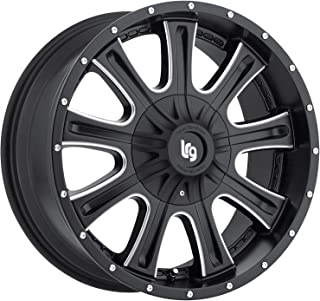 LRG Rims LRG105 Access Black Wheel with Milled Accents (17x9