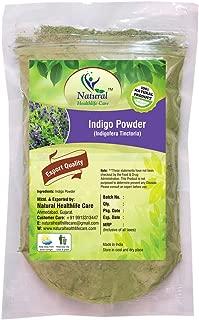 Natural Healthlife Care Indigo powder/Indigofera Tinctoria Powder 100% Pure Natural As Hair Colora nt Naturally (100gm/(0.22 lb)/3.5 ounces)