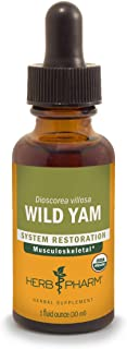 Herb Pharm Certified Organic Wild Yam Liquid Extract for Musculoskeletal System Support - 1 Ounce