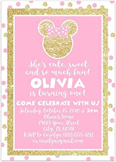 handmade minnie mouse birthday invitations