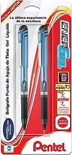 Pentel EnerGel NV Liquid Gel Pen, 0.5mm, Needle Tip, Black Ink, 2 Pack (BLN15BP2A)