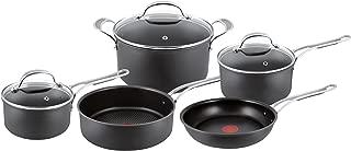 Tefal Jamie Oliver Hard Anodised Premium Series - 5 Piece Cookware Set, Black