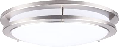 LIT-PaTH 15 Inch Dimmable LED Flush Mount Ceiling Lighting Fixture, 27.5W Replace