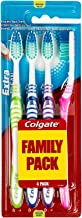 Colgate Extra Clean Toothbrush Med Value Pack Of 4 Units, Assorted Colors