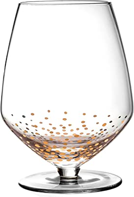 Fitz and Floyd Luster Wine Glasses, Gold