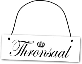 Homeyourself Metallschild Thronsaal 25 x 8 cm aus Alu Verbun