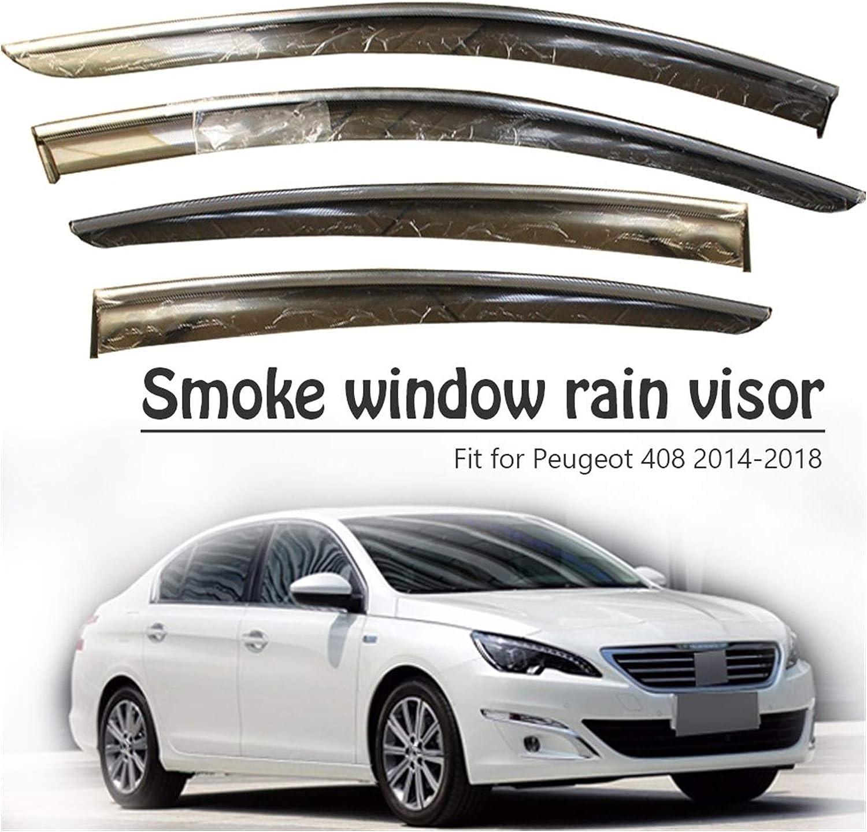 MYDH Deluxe Window Visor Deflectors for Peugeot 408 2017 2016 Reservation 2014 2015