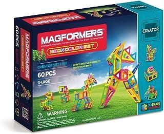 Magformers Creator Neon Color Set (60-pieces) Magnetic Building Blocks, Educational Magnetic Tiles Kit , Magnetic Construc...