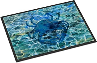 Caroline's Treasures Blue Crab Under Water Doormat, BB5369MAT, Multicolor, 18 H x 27 W