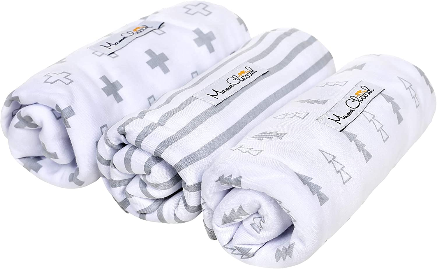 Swaddle Wrap for Newborn Soft Organic Cotton Baby Swaddle Blanket 0-3 Months Adjustable Swaddles Cool Grey Small