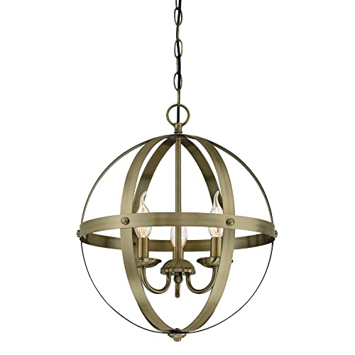 Westinghouse Lighting 6353700 Stella Mira Three-Light Indoor Chandelier,  Antique Brass - Antique Chandeliers: Amazon.com