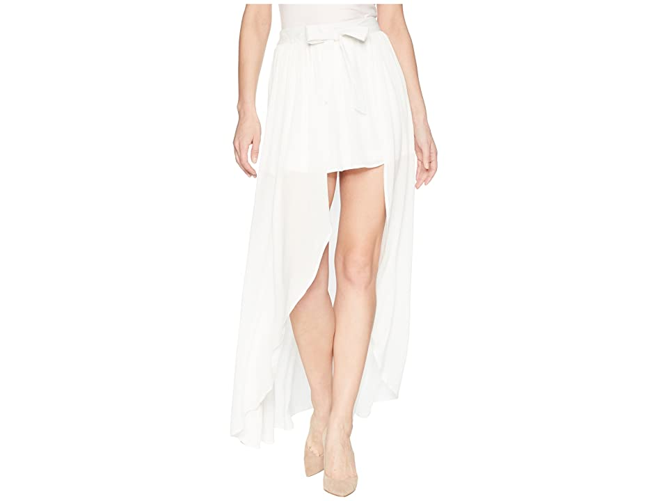Jack by BB Dakota Beatrice Wrap Skirt (Bright White) Women