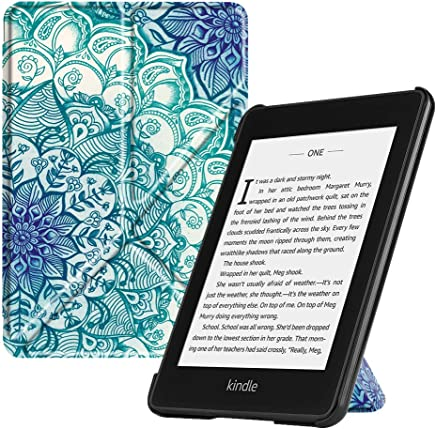 Fintie Origami Case for All-New Kindle Paperwhite (10th Generation, 2018 Release) - Slim Fit Stand Cover Support Hands Free Reading Auto Sleep/Wake for Amazon Kindle Paperwhite E-Reader, E-Illusions