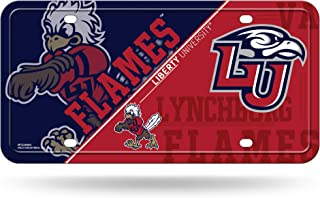 Liberty Flames NEW LOGO SILVER Deluxe Laser Cut Acrylic Inlaid License Plate Tag University of