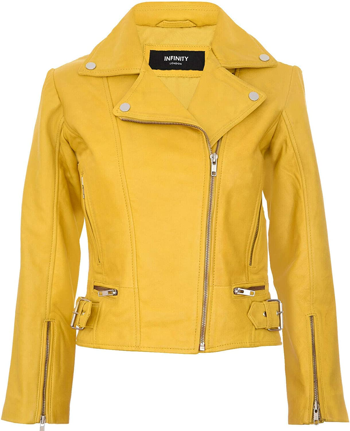 Ladies Leather Jacket Classic Biker Style Real Leather Womens Jacket