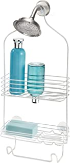 InterDesign Classico Bathroom Shower Caddy for Shampoo Pearl White 68764