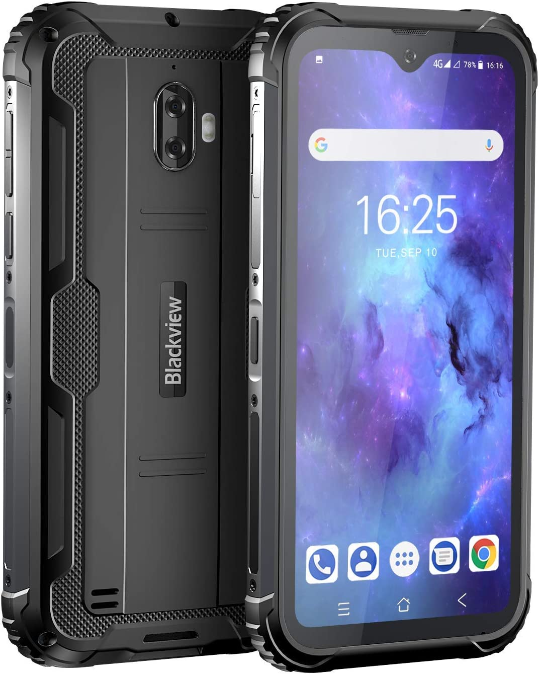 """Unlocked Rugged Smartphones, Blackview BV5900 4G LTE Rugged Cell Phones with Android 10 IP68 Waterproof Drop Proof, 5.7"""" Screen 3GB+32GB Dual SIM 5580mAh Battery for GSM T-Mobile, Black"""