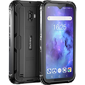 """Unlocked Rugged Smartphones, Blackview BV5900 4G LTE Rugged Cell Phones with Android 10 IP68 Waterproof Drop Proof, 5.7"""" Screen 3GB+32GB Dual SIM 5580mAh Battery for GSM AT&T T-Mobile, Black"""