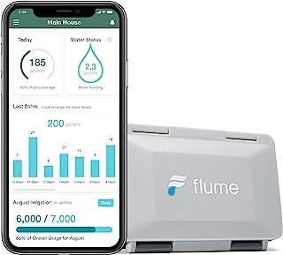 مانیتور آب وای فای خانه هوشمند Flume 2 و نشت یاب: قبل از آسیب دیدن نشتی آب را تشخیص دهید. استفاده از آب خود را در زمان واقعی کنترل کنید تا ضایعات را کاهش دهید. در چند دقیقه نصب می شود ، بدون لوله کشی مورد نیاز است