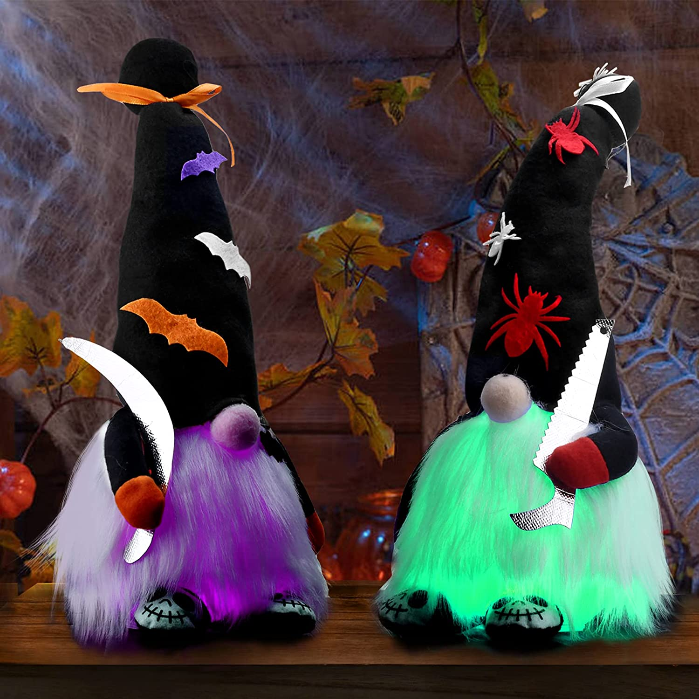 Light Up Halloween Gnome Shelf Sitters