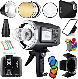 Godox AD600BM Bowens Mount 600Ws GN87 1/8000s HSS Outdoor Flash Strobe Studio Monolight with X1T-S Wireless Trigger Transmitter Compatible for Sony Cameras & 32x32inch Softbox&Standard Reflector&Snoot