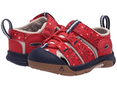 Keen Kids Newport H2 (Toddler) (Fiery Red/Blue Depths) Kids Shoes