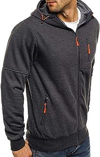 Nansiche Mens Winter Hoodie Warm Hooded Sweatshirt Jacket Pullover Zip Jacket Coat Outwear