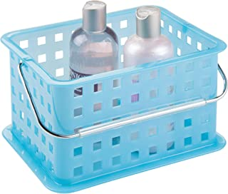 iDesign Plastic Storage Organizer Basket with Handle for Bathroom, Health, Cosmetics,..