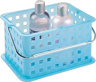 iDesign Plastic Storage Organizer Basket with Handle for Bathroom, Health, Cosmetics,..