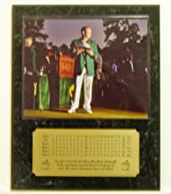 Sergio Garcia 2017 Masters Tournament Champion 8x10 Masters Trophy Picture Plaque with Engraved Scorecard