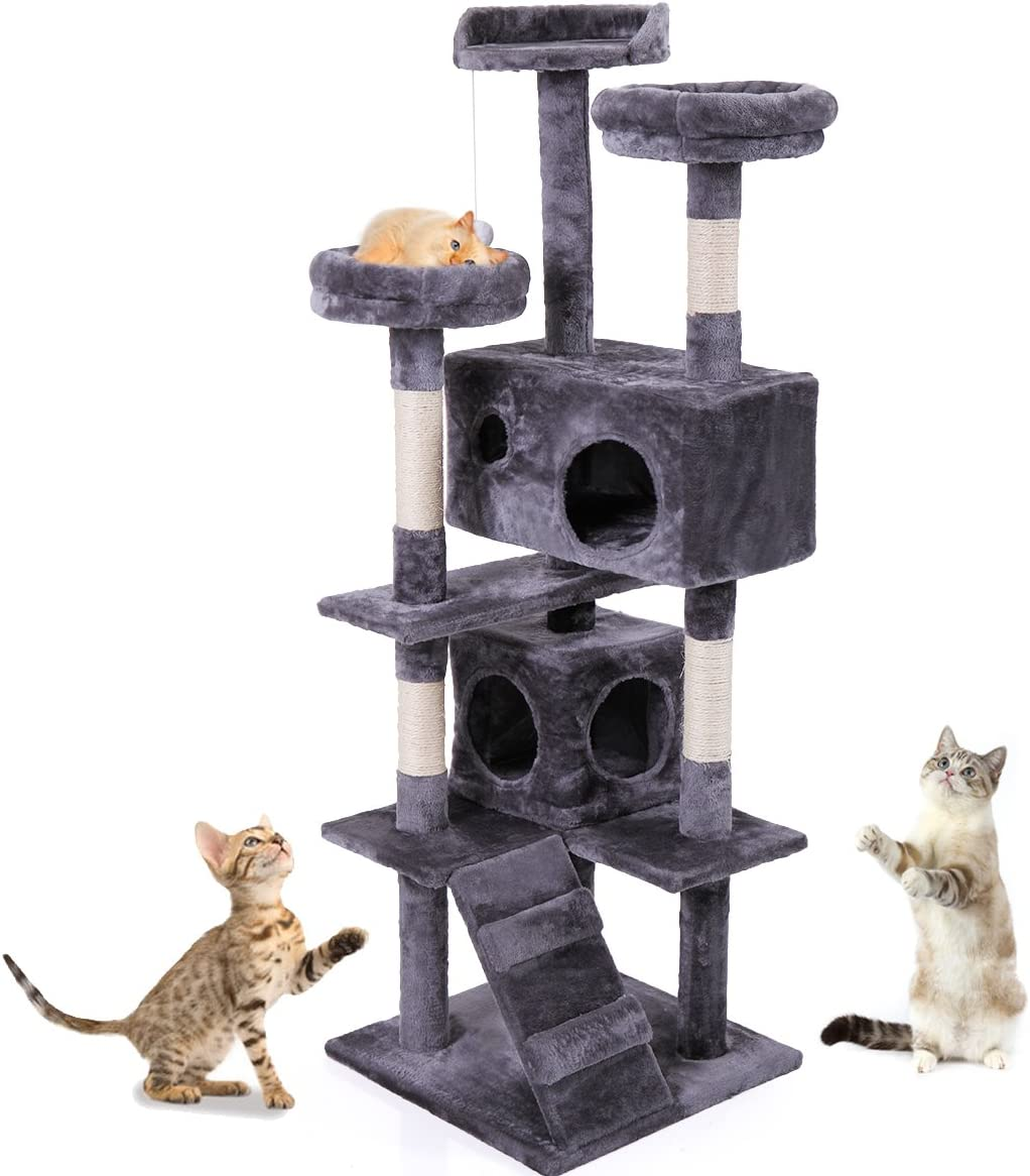MIODOU Tall Modern Challenge the lowest price of Japan ☆ Cat Tree Tower Jacksonville Mall Indoor Houses for Ha Cats