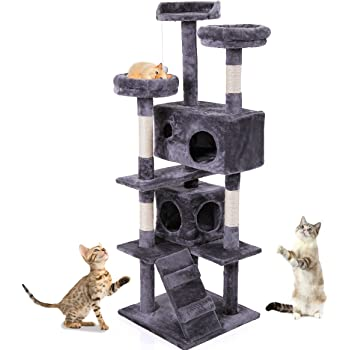 H Cat Trees and Towers with Scratching