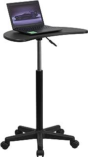 Flash Furniture Black Sit to Stand Mobile Laptop Computer Desk - NAN-JN-2792-GG